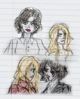 OUAT Sketches - Regina and Emma by Cruzerchic123