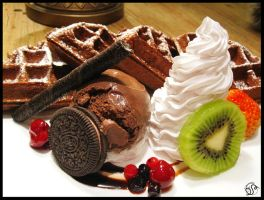 Maan Cafe Chocolate Waffel by danseKat