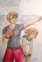 Football Sibs by gohe1090