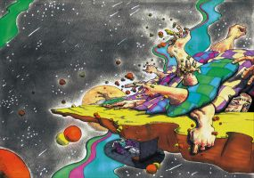 Trippin in outer space by Zabbah
