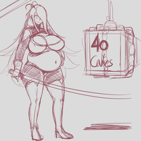 Sketches 1.8.2015 Garnet Stole 40 Cakes by Metalforever
