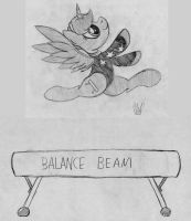 Energy Beam (Commission Sketch) by drawponies