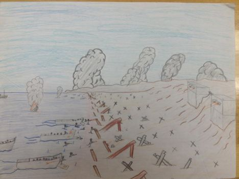 D-Day drawing I made. by TheSniperKid