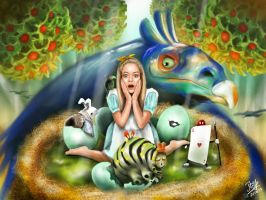 Alice in a pinch (iPad finger painting) by chaseroflight