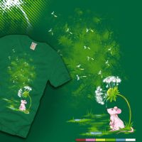 Dandelion Drops T-shirt Design by merely-A