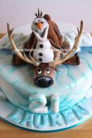 Frozen Olaf and Sven by zoesfancycakes