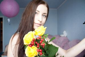 yellow roses came today by Luria-XXII