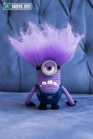 Evil Minion from 'Despicable Me', amigurumi toy by Aradiya9