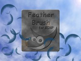 Feather Brush for GIMP by krTsukasa