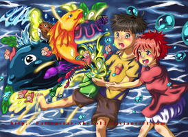 Ponyo's World, Big World... by tanginova