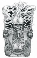 Skull smoking by mr-biggs