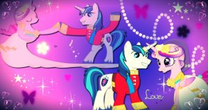 Princess Cadence and Shining Armor love wallpaper by AmazingPony