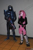 Me With My Lil Sis as Tali vas Normady by Oreassin