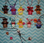 Five Nights at Freddy's Necklaces by TashaAkaTachi