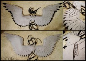 Felt Wings .:. Gray.Black-tip.TRozok21 by Kamakru
