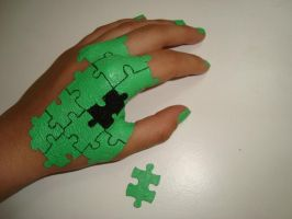 Puzzle on my hand by OliviaSun