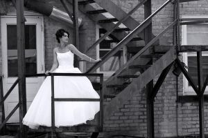 Trash the Dress: Fire Escape by environaut