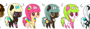 Earth Pony Adoptble Batch 4 +CLOSED+ by PonyFuzz