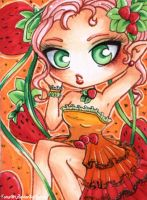ACEO 30: Strawberry elf by Forunth