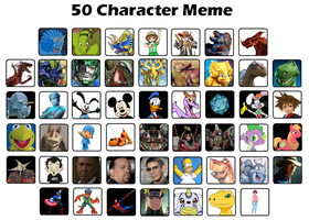 My Top 50 characters by DinoLover09