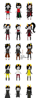 Homestuck Troll Adopt OPEN (MOVED) by sarcasticHoarder