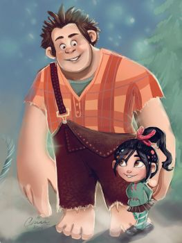 Ralph and Vanellope by Cute-Pathi