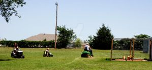3 mowers by omgphotos