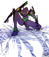 EVA 01 by AtomicRedBoots