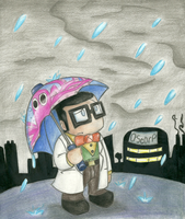 Otto's rainy day by StarScout-lost