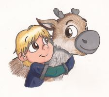 Kristoff and Sven by ZippyDee20