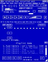 BSOD on a Winamp by RCTLocomotionDA