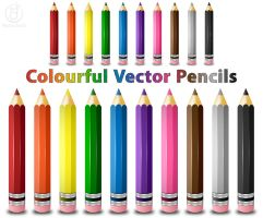 Colourful Vector Pencils by rjDezigns