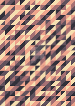Retro triangular pattern design BY by Aliroll