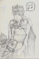 5 min Sketches - King Qayin 2 by BunnyVoid