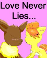Love Never Lies Title Page by EspeonUmbreonLover