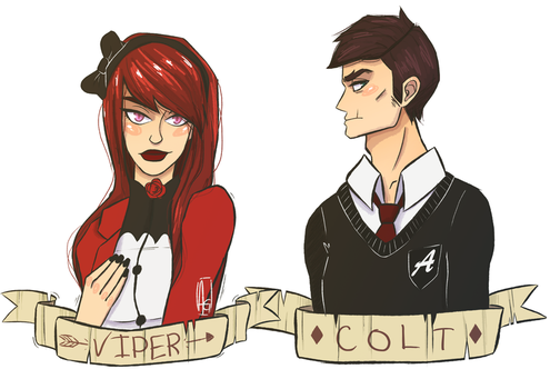 Colt and Viper by rektess
