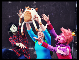 Desucon: Adventure time gender bent group cosplay by Nekoshiba