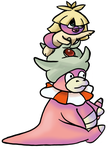 Smoochum and Slowking by DeadGirlsLikeMe