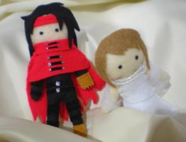 Vincent and Lucrecia Plushie by midnight-clover