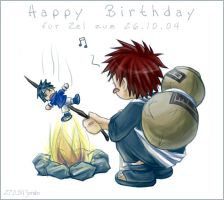 Naruto - Happy Birthday Zel by sora-ko