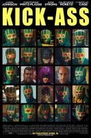 Kick-Ass Icons Movie Poster by Davoe