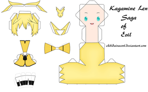 Len Kagamine Papercraft Saga of evil by ChibiDairacool