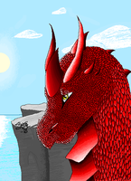 MS Paint Dragon by Drafeg