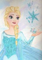 Elsa the queen canvas painting by LightningChaser