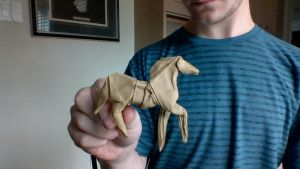 Origami Horse by xhudaman