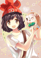 Pokemon Moon/Sun - Rowlet by Neko-Slay