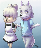[ART TRADE] Jessica and Fang by Konamon