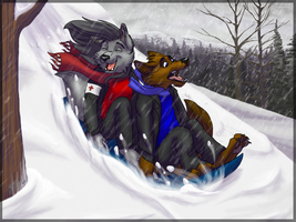 Sled Ride by BlackthornPubl