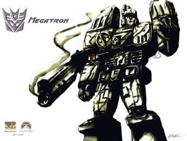 Megatron Wallpaper by ninjaink