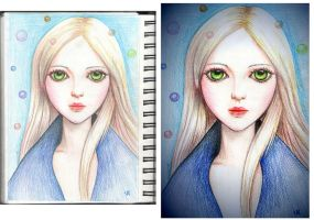 Doll (colored pencils) by Busyashka